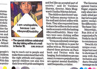Noida kids spread the message of inclusion