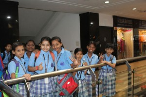 Students celebrating Raksha Bandhan Festival together