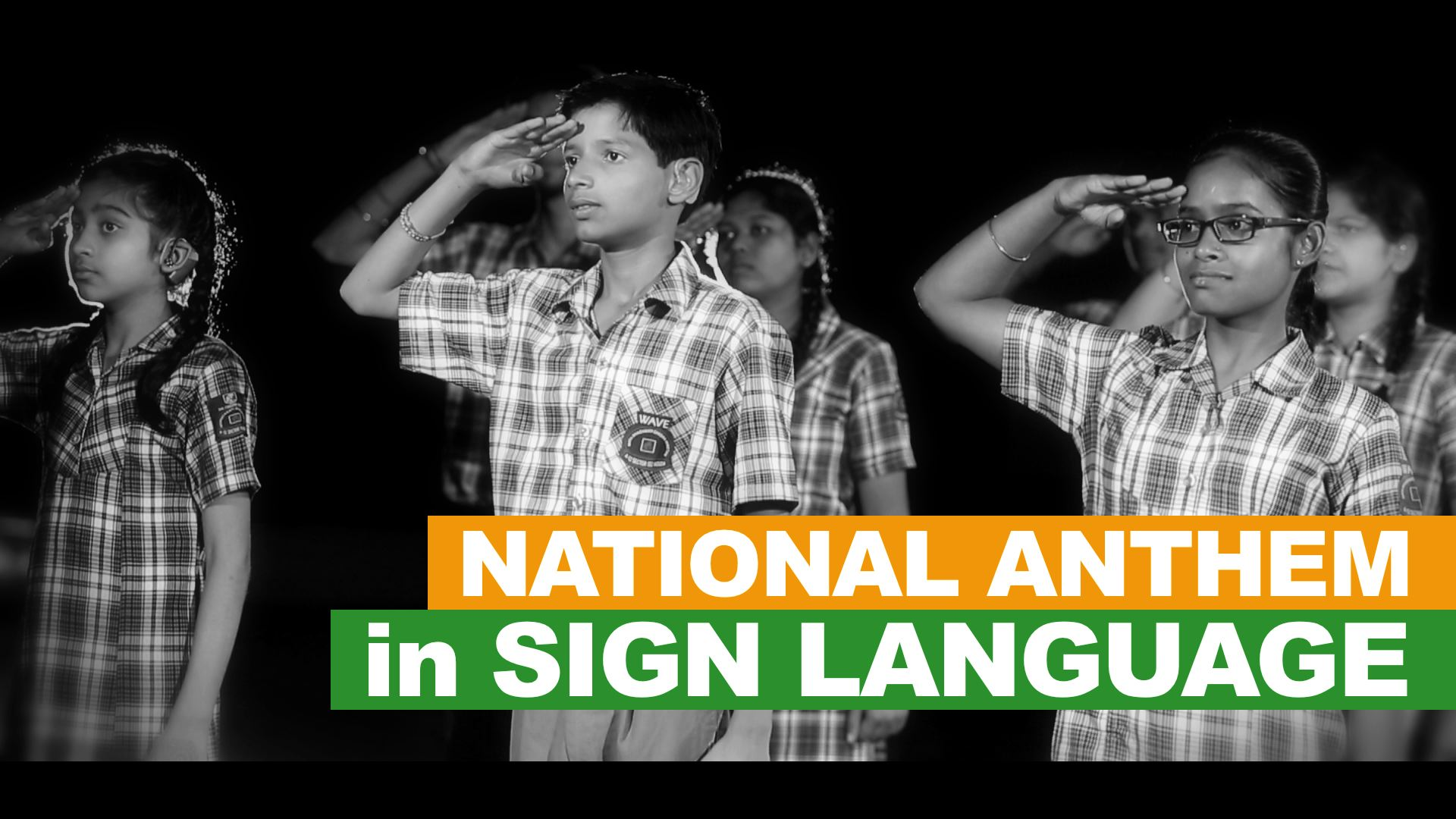 MBCN HI Students Connect All With Indian National Anthem In Sign Language